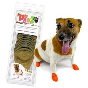 "Pawz Dog Boots PZCMXS Up to 2"" Water-Proof"